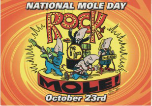 2003 Rock and Mole Postcard