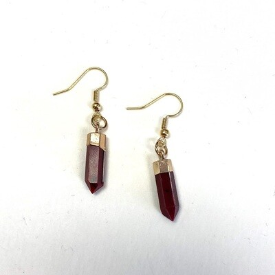 Drop Agate Earring - Red
