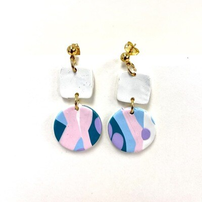 Evo Polymer Clay Earrings - Small