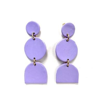 Purple Polymer Clay Earrings