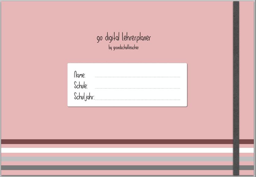 go digital Lehrerplaner 19/20 Deckblatt rosa