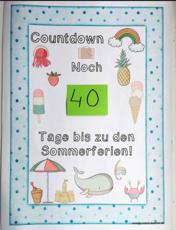 Countdown Sommerferien