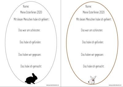 Osterferien 2020 Lese- und Schreibleine
