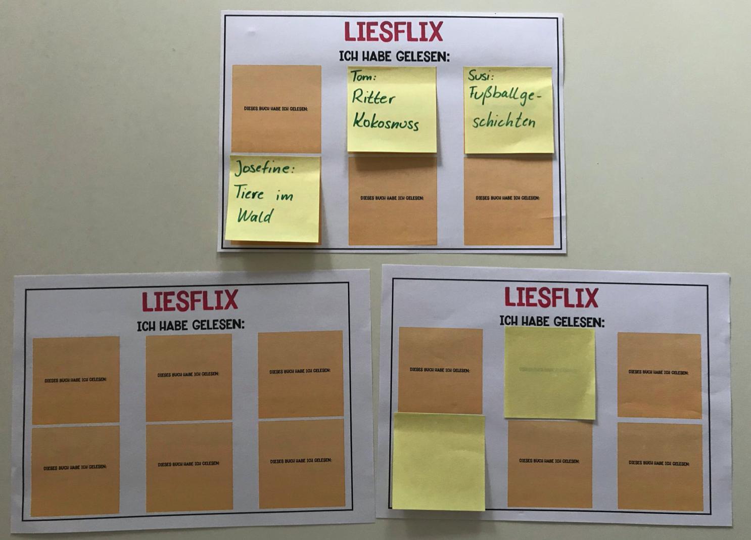 Liesflix - Lesefortschritte festhalten