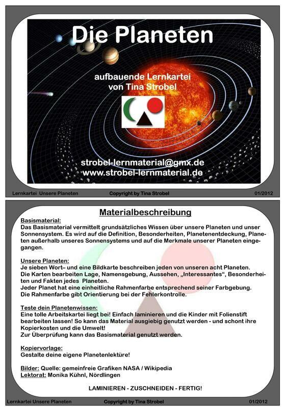 Planeten Lernkartei