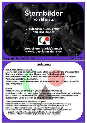 Sternbilder M-Z + Definitionen