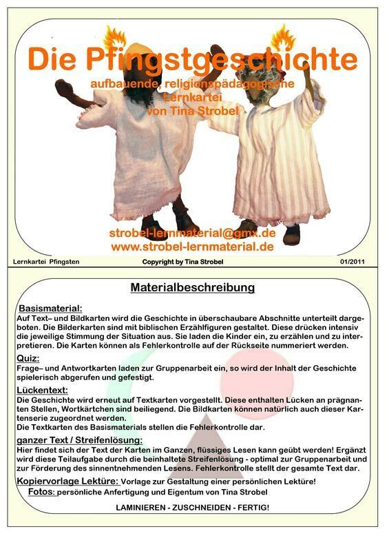 Die Pfingstgeschichte Lernkartei - aufbauend