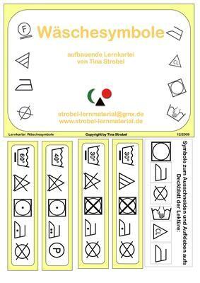 Die Wäschesymbole Lernkartei