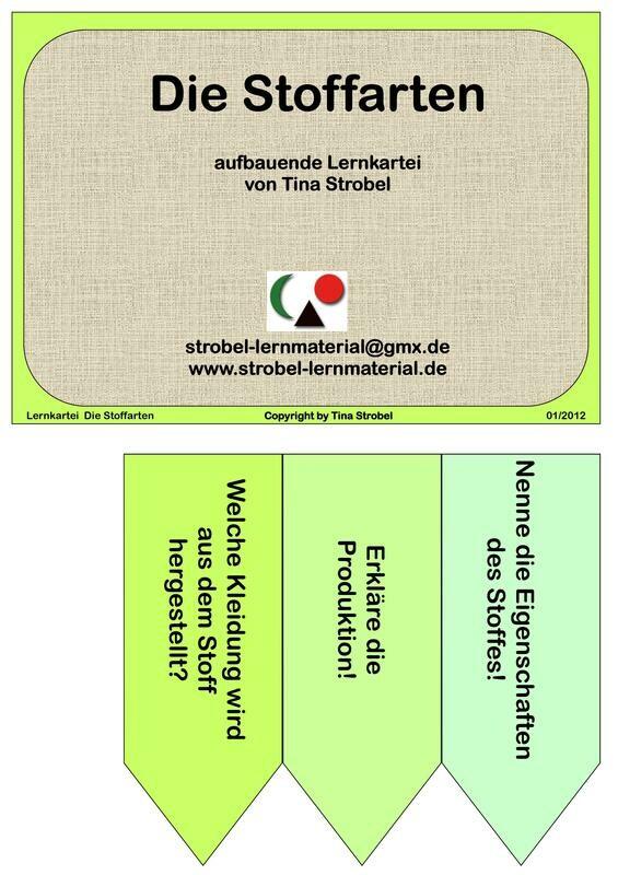 Die Stoffarten Lernkartei