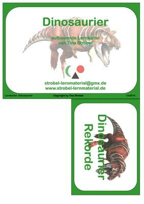 Dinosaurier Lernkartei
