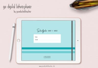 go digital Lehrerplaner 21/22 - 10 Schulstunden mint