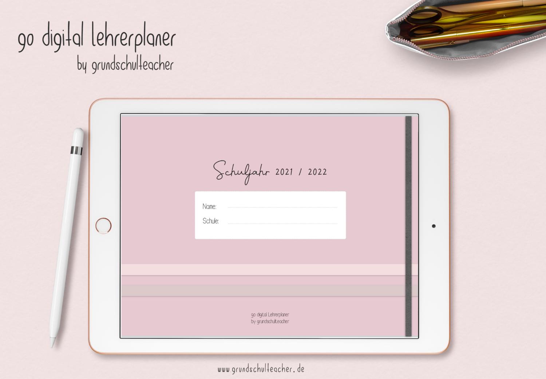 go digital Lehrerplaner 21/22 - 10 Schulstunden rosé