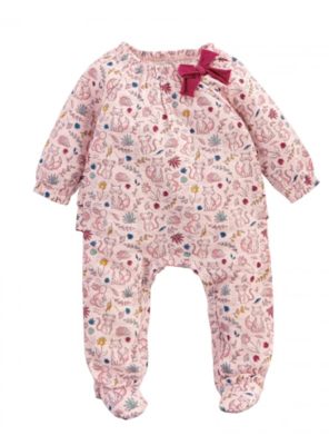Pink Muslin Forest Sleeper Sz 3 - 6 Mos.