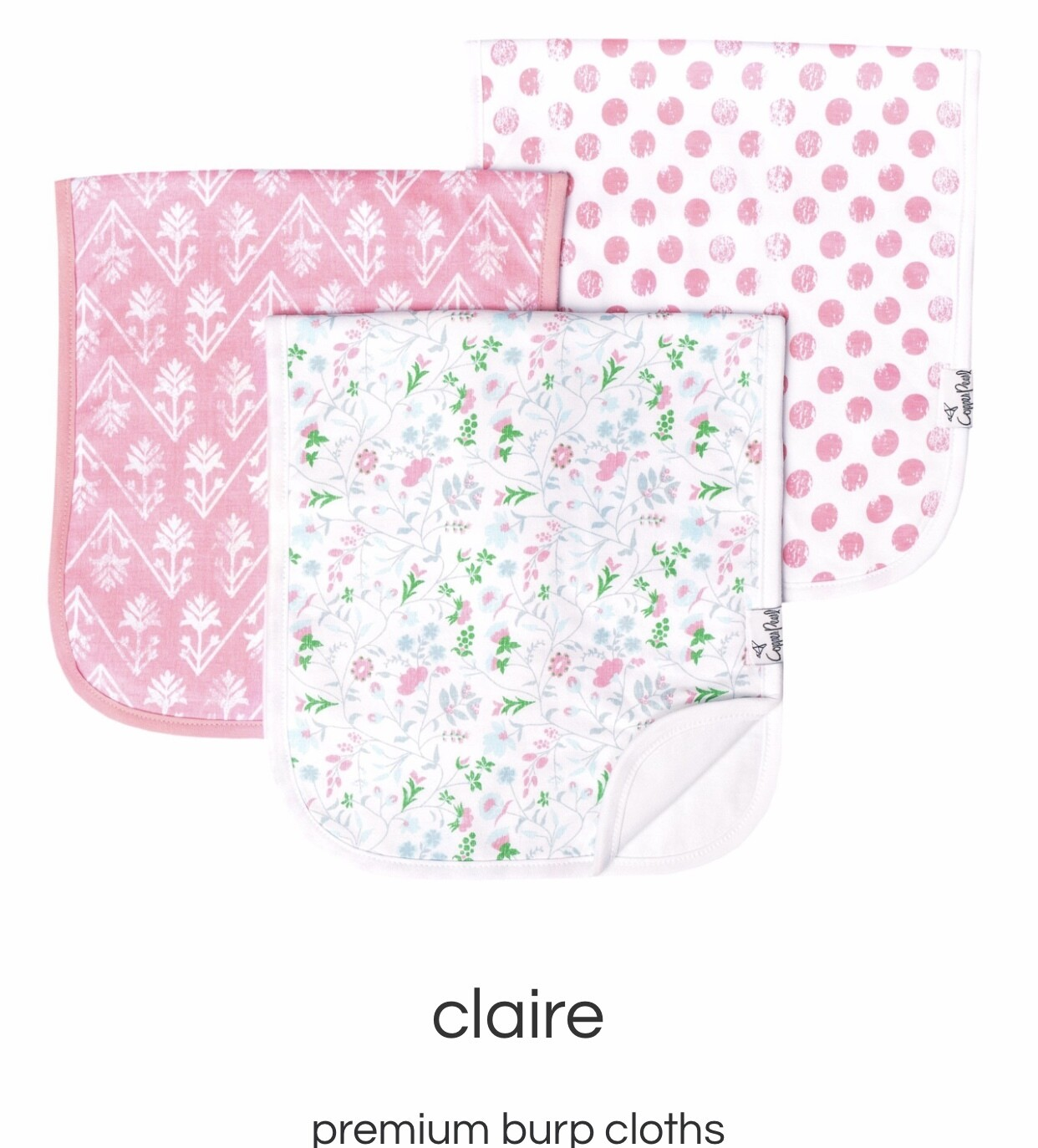 Claire Burp Cloth Set