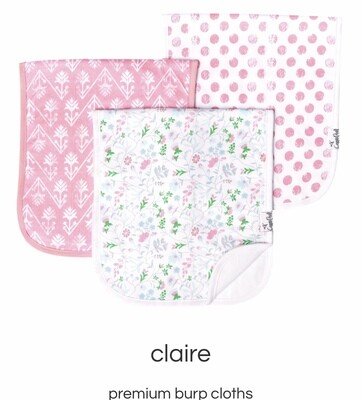 Claire Burp Cloth Set
