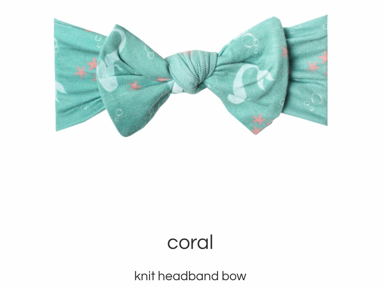 Coral Headband Bow
