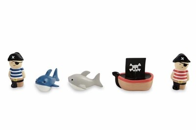 Pirate, Ship & Shark Bath Toy