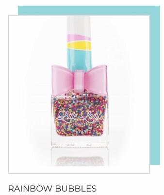 Rainbow Bubbles Glitter Nail Polish