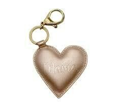 Mama Heart Charm Rose Gold