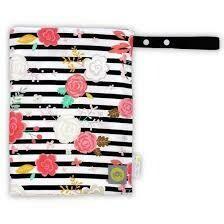 Wet Bag, Med - Floral Stripe