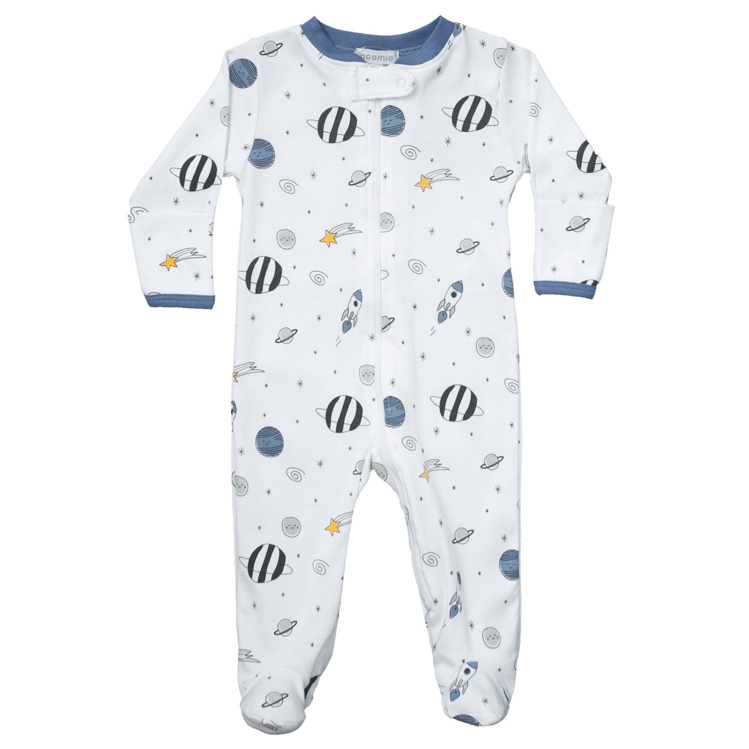 Blue Universe Zipper Footie 3-6 month