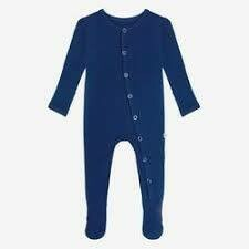Sailor Blue 0-3 mos Footie Snap one piece