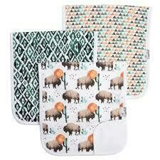 Bison Burp Cloth Set