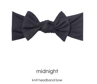 Midnight Headband Bow