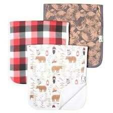 Lumberjack Burp Cloth Set