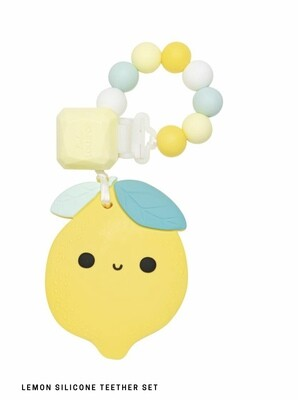 Lemon Silicone Teether Set