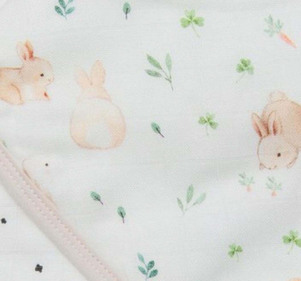 Bunny Meadow Muslin Swaddle