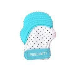 Munch Mitt - Aqua Polka Dots