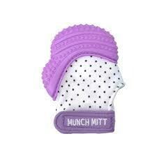 Munch Mitt - Purple Polka Dots