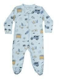 Surf Zipper Footie 6-9 months