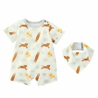 Safari Animal Shortall 3-6 months