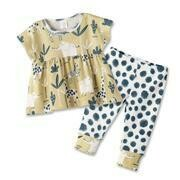 Jungle Picnic Girl's Top & Bottom Set 2T