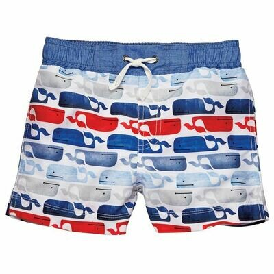 Whale Swim Trunks 6-9 mos.