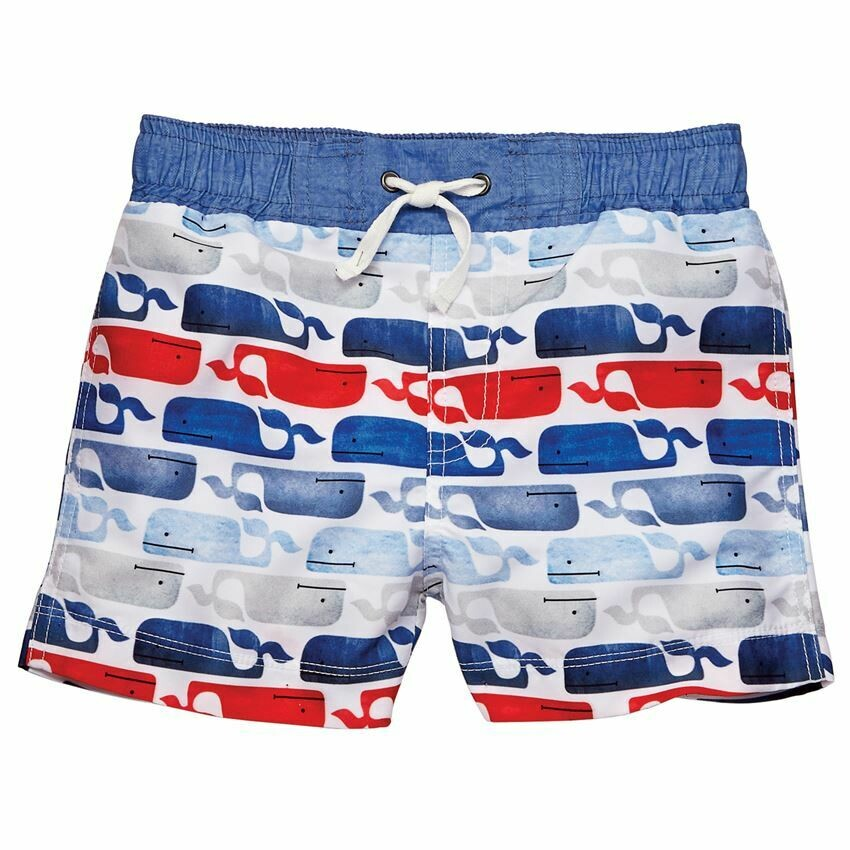 Whale Swim Trunks  2T/3T