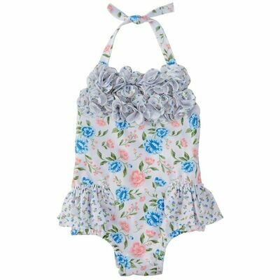 Ruffle Floral Swimsuit 3-6 months