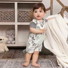 Campout Boy's Shortie Romper 12-18 months