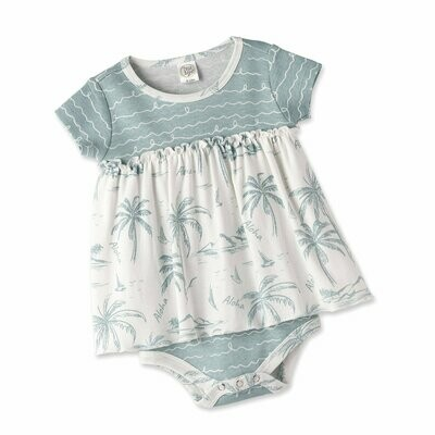 Aloha Skirted Bodysuit 3-6 months