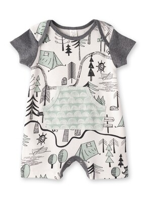 Campout Boy's Shortie Romper 3-6 months