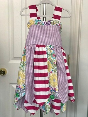 Pretty Petals Apron Dress 3T