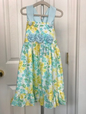 Yellow & Blue Floral Sundress  3T