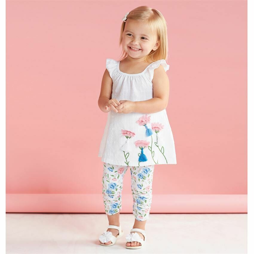 Floral Tunic And Capri Set 3T