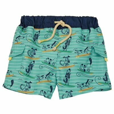 Dog Surfing Swim Trunks 12-18 months