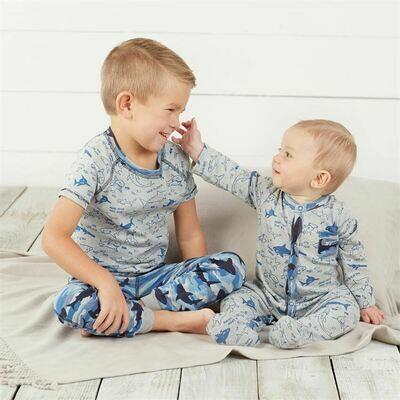 Shark Print Pajamas 3T