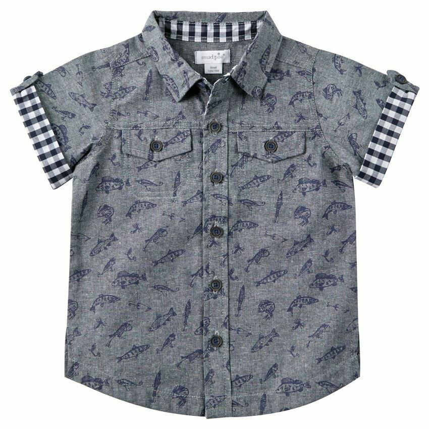 Fishing Resort Shirt 12-18 months