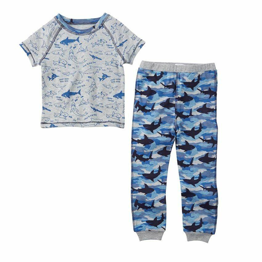 Shark Print Pajamas 2T