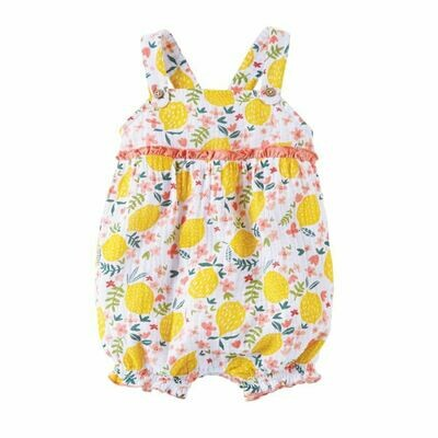 Lemon Floral Bubble Romper 3-6 months